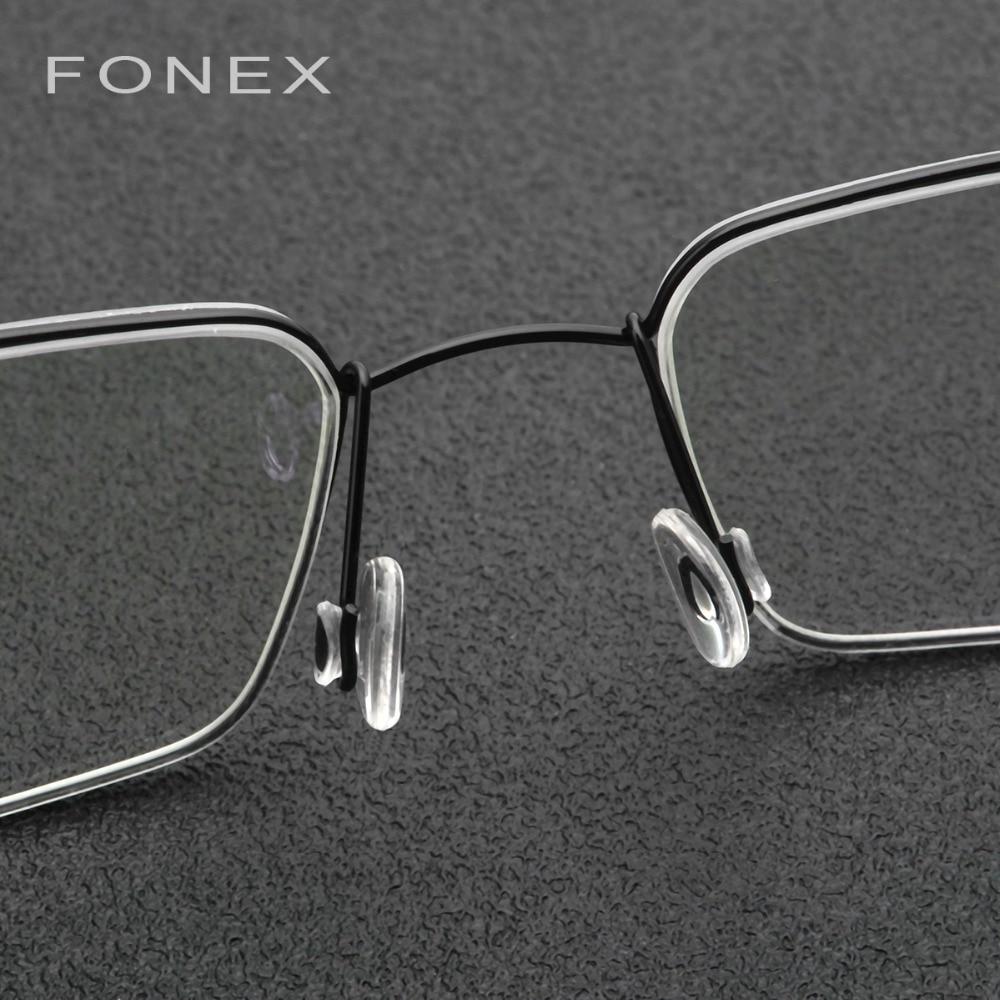 Titanium Myopia Optical Glasses Frame Men Ultralight New Handmade Prescription Eyeglasses Korean Denmark Italy Screwless Eyewear