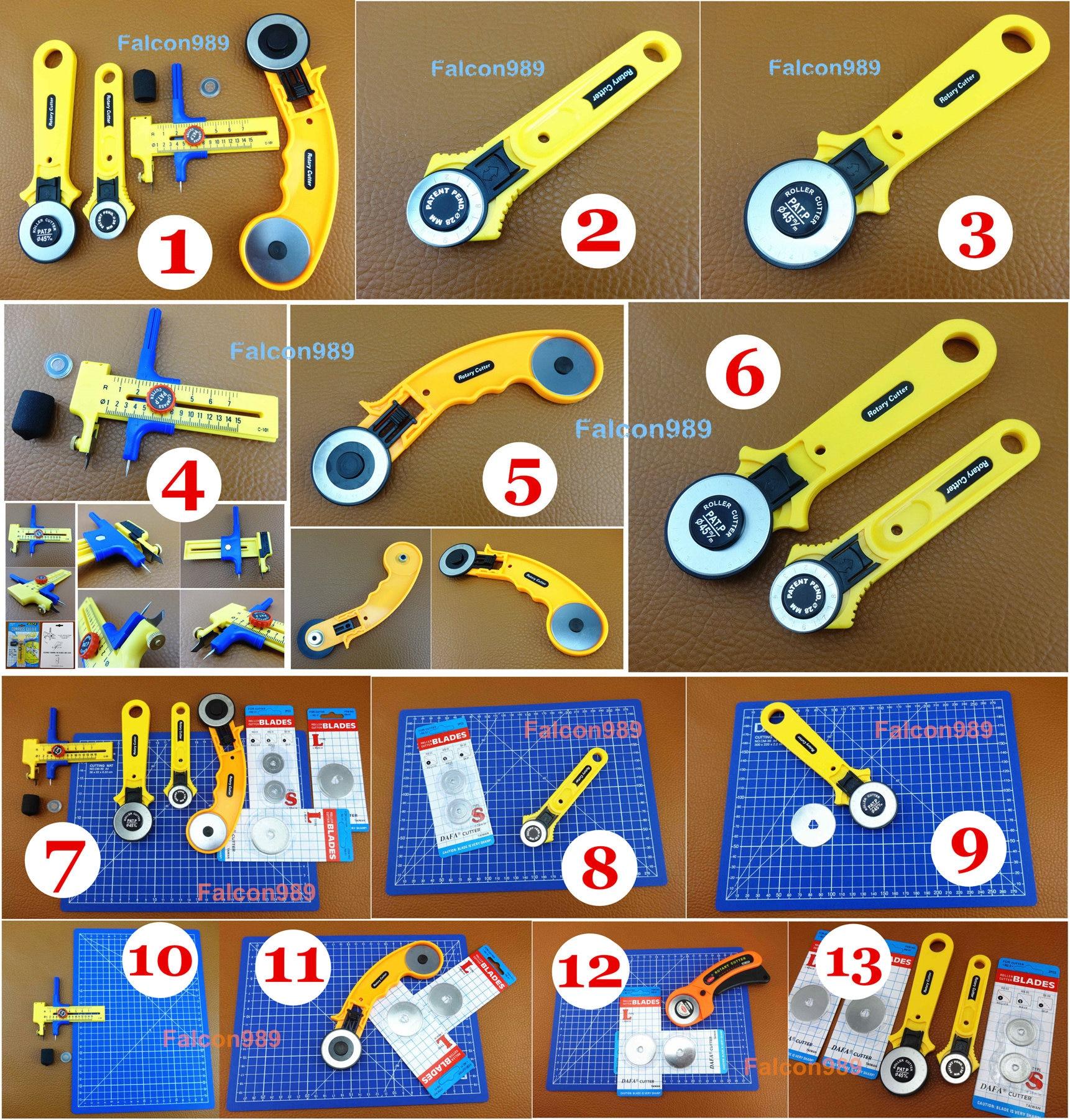 A4 Cutting Mat Leather Craft Tool Set Kit Cutter Circle Compass Cutter W