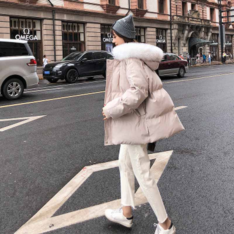 Coat women 39 s tide section winter women 39 s bread clothing students winter cotton coat jacket cotton jacket Thick Warm Down Parka in Down Coats from Women 39 s Clothing