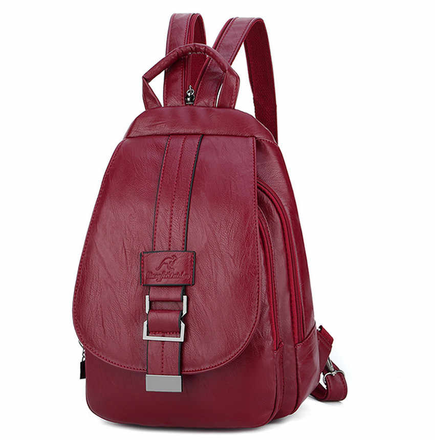 Women Girls Back Pack 2019 PU Leather School Bag Pack Guangzhou Women's Backpacks Female 2019 Fashion