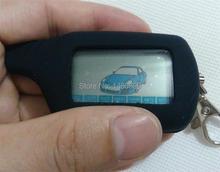 Control Remoto LCD Llavero cadena de Llavero + Funda de Silicona cubierta para Twage Starline B6 2 Way Car Alarm System, Alarma antirrobo