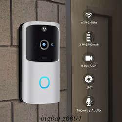 M10 2,4G Беспроводной WiFi умный дверной Звонок камера видео дистанционный дверной звонок кольцо Интерком видеонаблюдения звуковой сигнал с