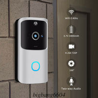 M10 2.4G Wireless WiFi Smart Doorbell Camera Video Remote Door Bell Ring Intercom CCTV Chime Phone APP Home Security