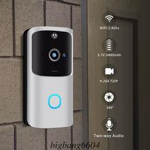 M10 2.4G bezprzewodowy WiFi inteligentny dzwonek kamera wideo zdalny dzwonek do drzwi pierścień domofon CCTV dzwonek aplikacja na telefon bezpieczeństwo w domu