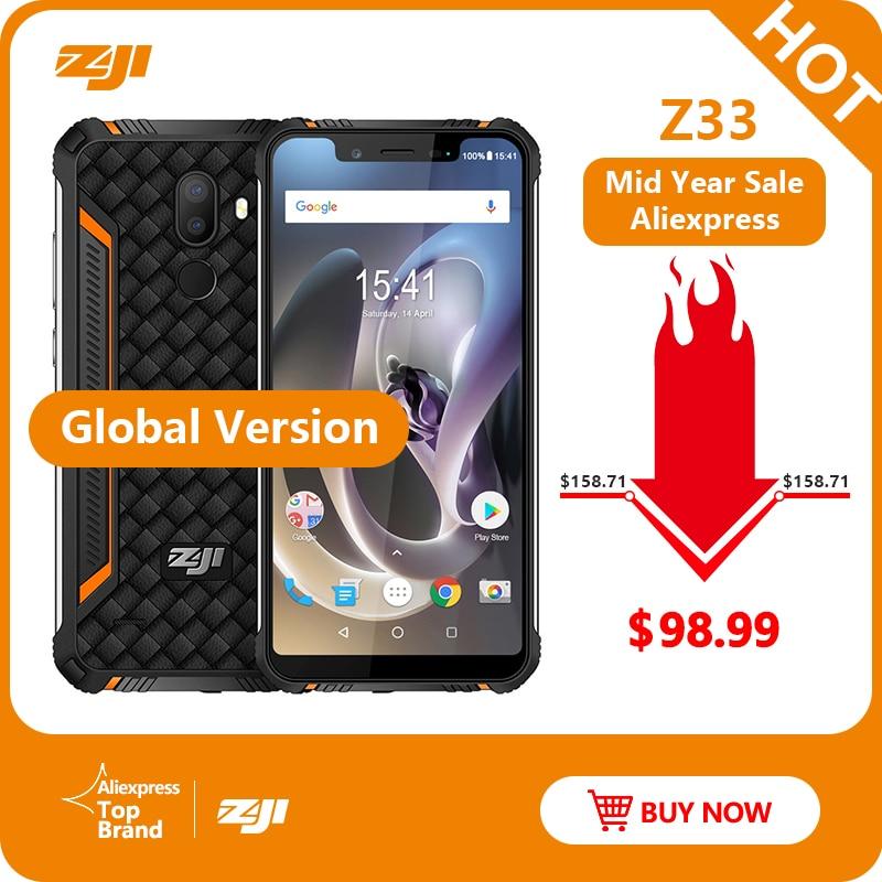 Téléphone étanche IP68 HOMTOM ZJI ZOJI Z33 4600 mAh 3 GB 32 GB 5.85