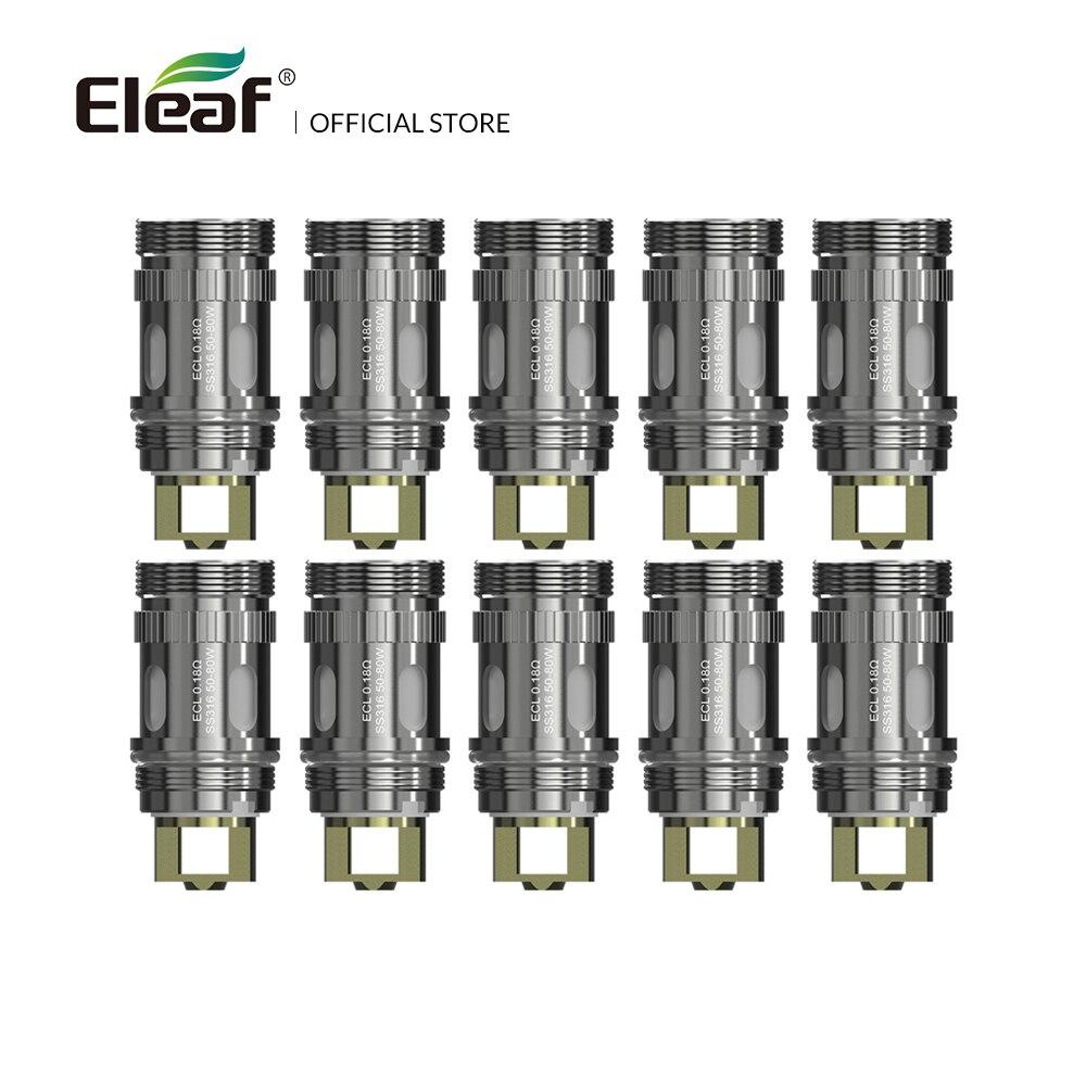 10/15PCS Original Eleaf ECL 0.18ohm Head SS316 50-80w For iJust S/Lemo 3/iJust 2 mini/melo 3/melo Atomizer Electronic Cigarette