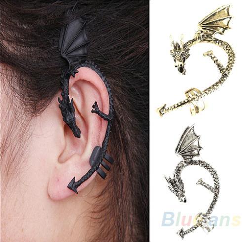 Hot Ing Retro Vintage Gothic Rock Punk Twine Dragon Shape Ear Cuff Clip Earring Earrings Women Men 1o65 In From Jewelry Accessories