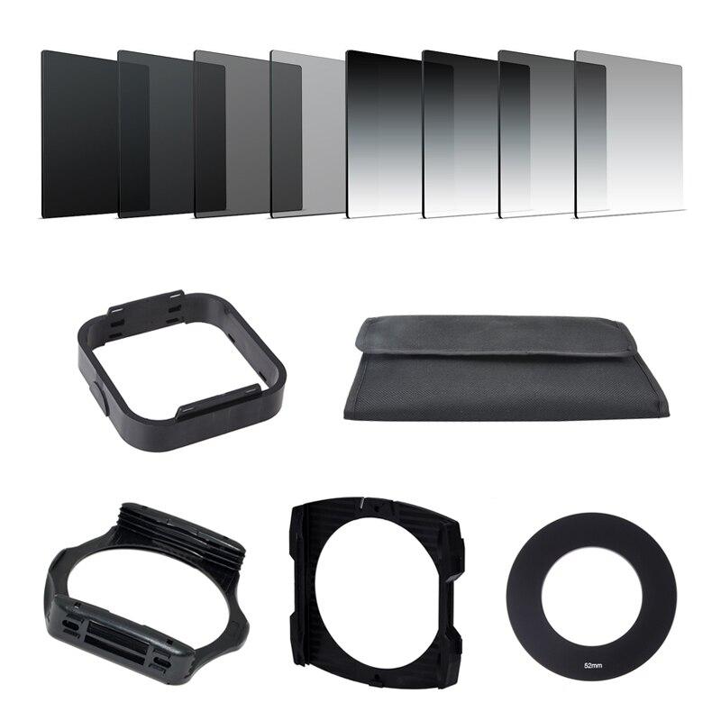Caméra Filtro Gradient Densité Neutre ND Progressive Carré Résine Filtres Adaptateur Anneaux Titulaire Cokin P Série système pour REFLEX DSLR