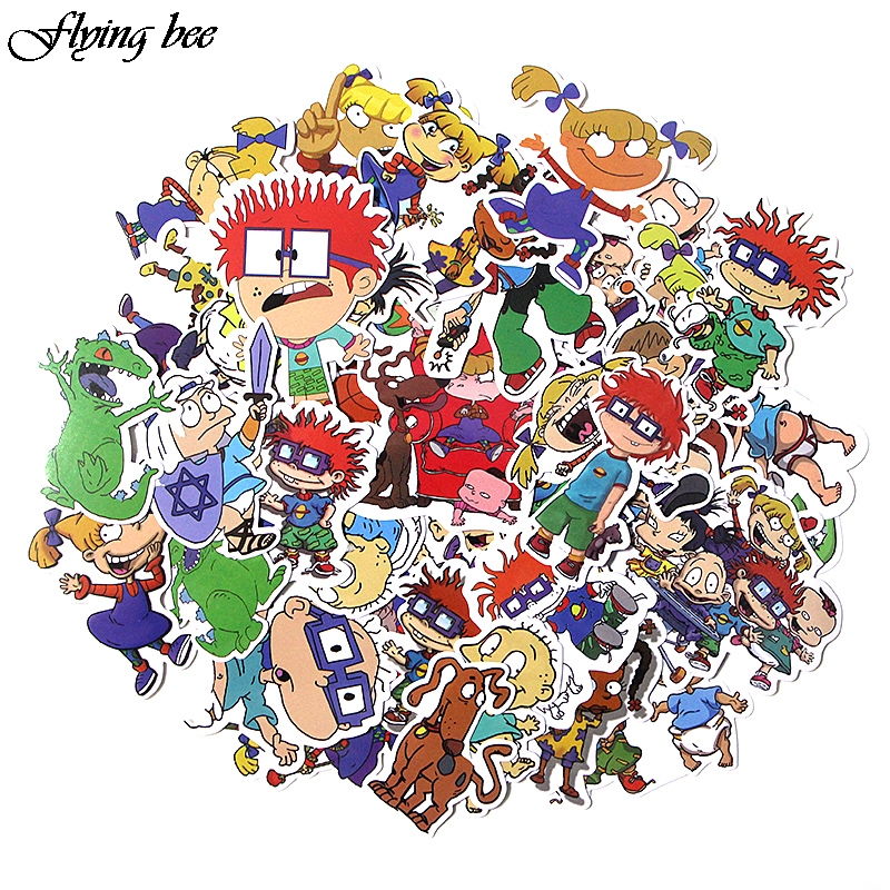 Flyingbee 40 Pcs Cute Anime Car Sticker Decals Waterproof Scrapbooking Stickers for DIY Luggage Laptop Skateboard Sticker X0018-in Stickers from Consumer Electronics
