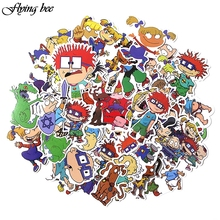 Get more info on the Flyingbee 40 Pcs Cute Anime Car Sticker Decals Waterproof Scrapbooking Stickers for DIY Luggage Laptop Skateboard Sticker X0018