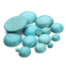 10pcs/lot 4-30mm Natural Stone Turquoises Cabochons Beads Flatback Scrapbooking Domes Cabochon Cameo for Jewelry Making F1401