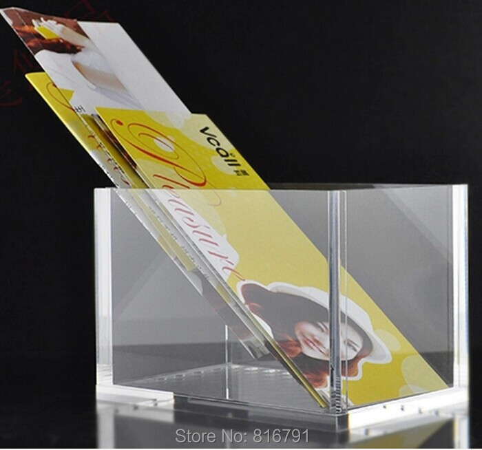 Free Shipping Acrylic Advert Paper Holders Catalogue Holders for exhibition or store display clear acrylic a3a4a5a6 sign display paper card label advertising holders horizontal t stands by magnet sucked on desktop 2pcs