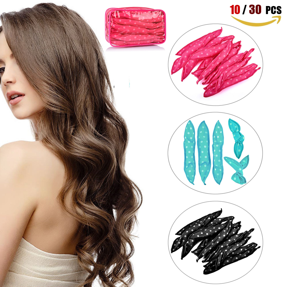10 30 PCS Magic Sponge Pillow Soft Hair Roller Best Flexible Foam and Sponge Hair Curlers DIY Styling Hair Rollers Curl Tools