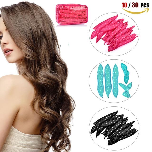 10 30 PCS קסם ספוג כרית רך שיער רולר הטוב ביותר גמיש קצף ספוג שיער רולים DIY סטיילינג שיער רולים תלתל כלים