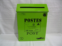 Pure Color Rustic Iron Mail Mailbox Fashion Vintage Bucket Tin Newspaper Boxes Mail Box Post Box