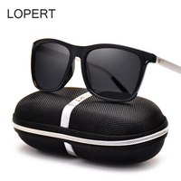 LOPERT Aluminum TR90 Polarized Sunglasses Men Brand Designer Driving Glasses Fashion Women Vintage Sun Glasses For