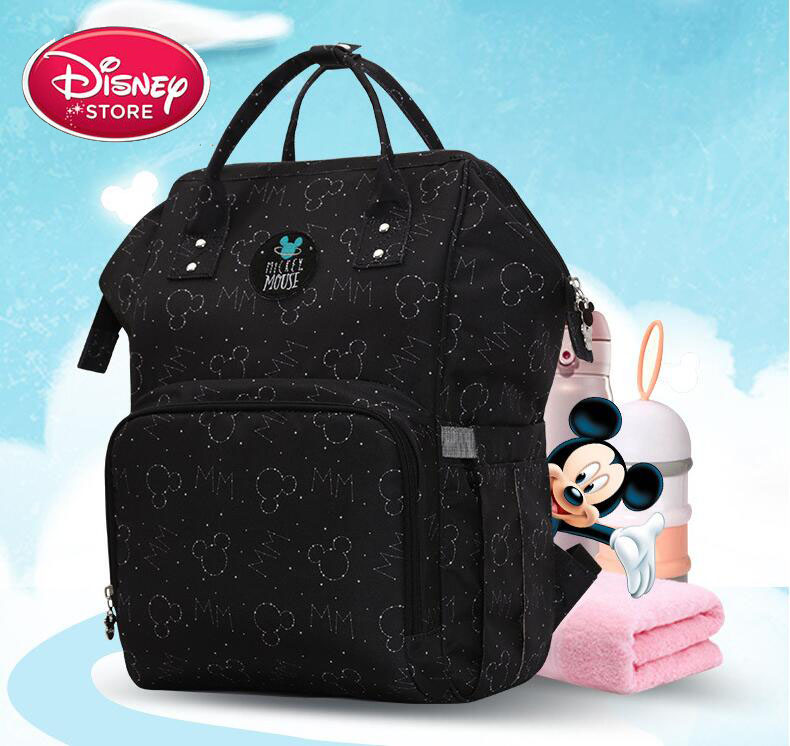 Disney Minnie Mickey Diaper Bags Outdoors Mummy Maternity Nappy Bag Large Capacity Baby Bag Travel Backpack