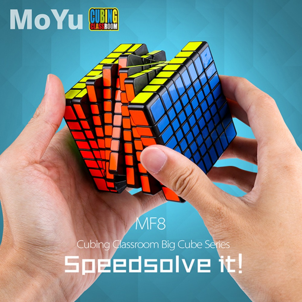 цена LeadingStar 8x8 Magic Puzzle Cube Twist Puzzle Speed Cube Adult Kids Educational Toy Gift Competition Game