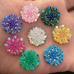 Hot 10 pieces lot 18mm ab resin flower rhinestone flatback wedding decoration 2 hole buttons d60.jpg 250x250