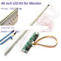 46 zoll LED Aluminiumplatte Streifen Hintergrundbeleuchtung Lampen Update Kit für LCD-Monitor TV Panel 2 LED Streifen 520mm Freies verschiffen