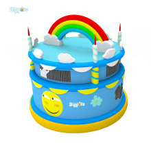 5m Height Cheap Price Inflatable Birthday Cake Bouncer Inflatable Jumping Bouncer For Party