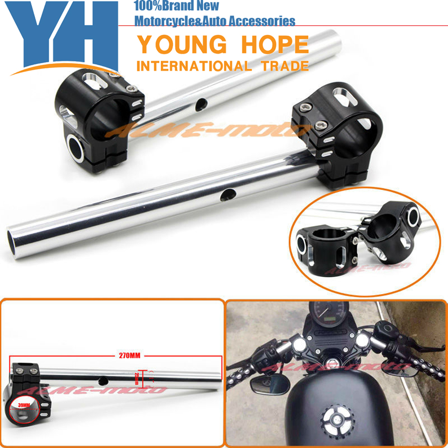 39mm Universal CNC Clip-on Handlebars For Harley Sportsters XL883 XL1200