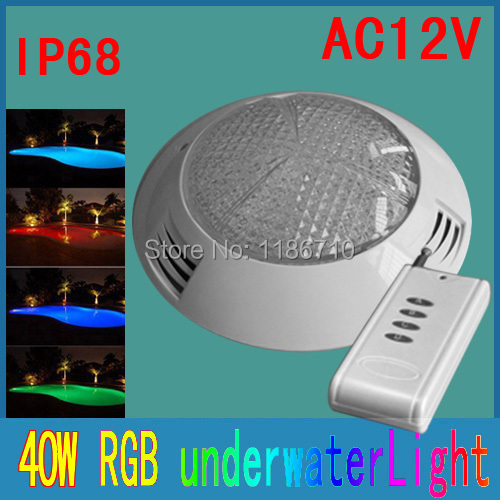 led rgb swimming pool 12v led underwater lights 558 led 40w multi-color wall mounted Contains the remote control Free shipping