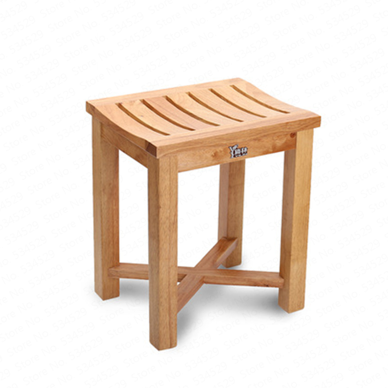Color : A, Size : S Beauty Stainless Steel Shower Stool,Solid Wood Folding Chair for The Elderly//Pregnant Women Bathroom Shower Chair