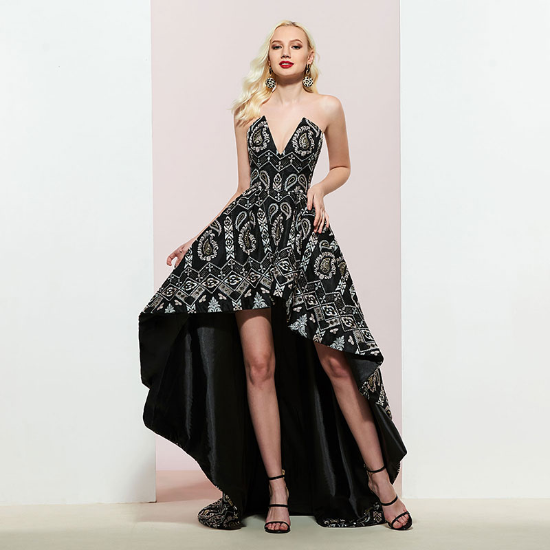 Tanpell lace   prom     dresses   sweetheart zipper-up sleeveless printed   dress   woman formal evening custom a line   prom   gown