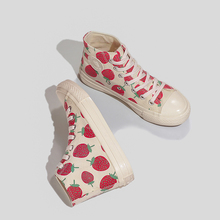 Shoes Women 2019 Fashion Casual Sneakers White Canvas High-Top Low-cut Cute Red Spring Autumn Ladies