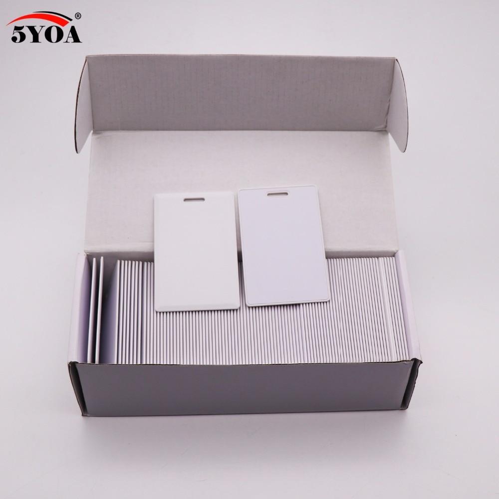 100 ピース EM4305 T5577 厚いブランクカード 1.8 ミリメートル RFID チップカード 125 Khz コピーリライタブル可能なリライト重複 125 khz  グループ上の セキュリティ & プロテクション からの アクセスコントロール カード の中 1