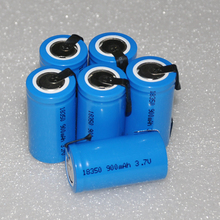 12-20pcs 3.7v INR 18350 rechargeable lithium ion battery cell 900MAH for LED flashlight torch and speaker
