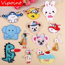 VIPOINT embroidery cartoon bear patches animal rabbit badges applique for clothing YX-65