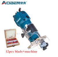 230V 420W Small Carving Machine Woodworking Electric Tools 6 35 MM Handle DIY EDGE TRIMMING MACHINE