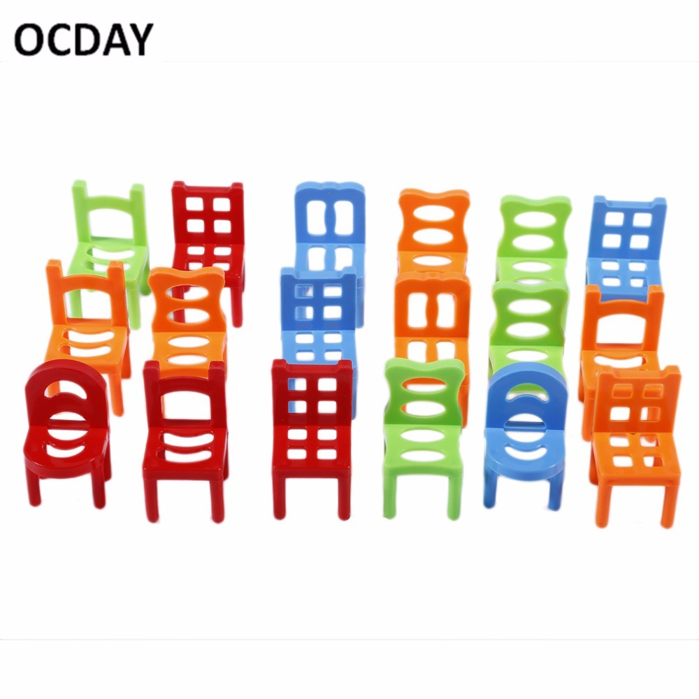 Kids stacking chairs - Cday Novelty Plastic Kids Balance Toy Stacking Chairs Educational Toy Parent Child Interactive Party