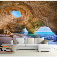 3D Mural Wallpaper Home Decor Background Photography Natural Cave Marvel Coast Landscape Bathroom Wall Mural For