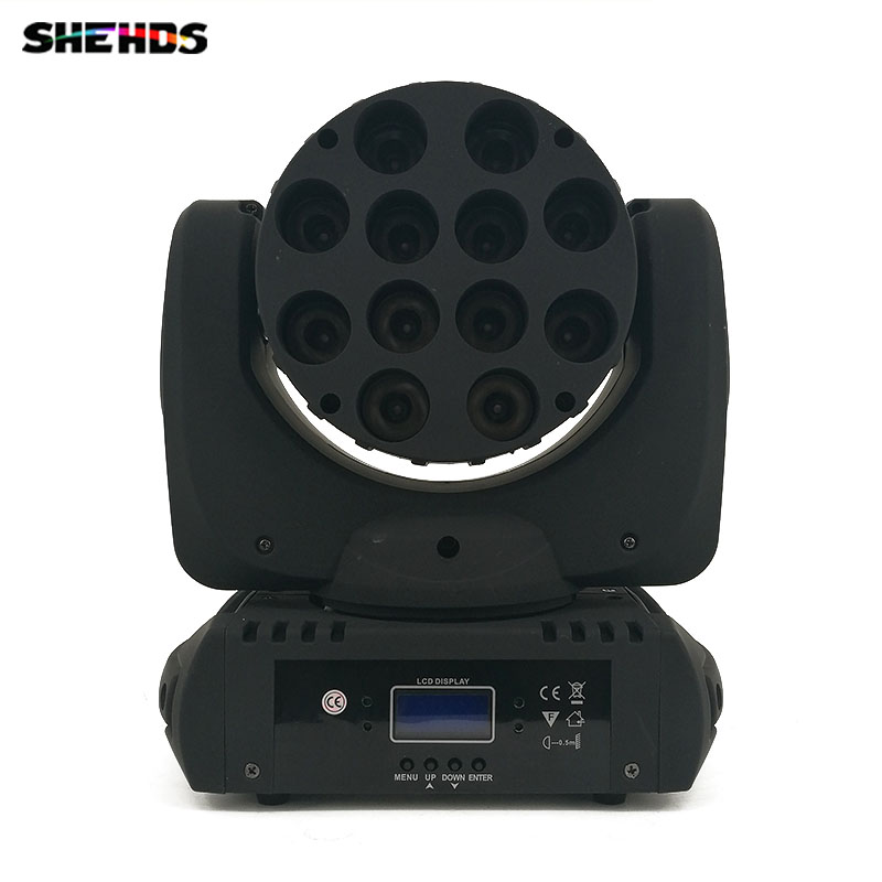 Fast Shipping LED Beam Moving Head Light 12x 12W RGBW Quad LEDs With Excellent Pragrams 9