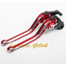 CNC Motorcycles Brake Clutch Levers Regular size Mixed Red&Silver Color For Honda VFR800/F 2002-2003 2004 2005 2006 2007-2014