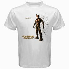 The Groot Guardian of The Galaxy Tshirt White Basic Tee