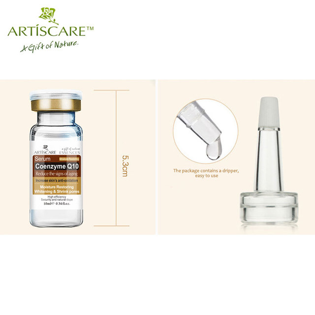 Skin care coenzyme Q10 serum whitening and minimize shrink pores reduce the signs of aging ARTISCARE face care cream 2pcs