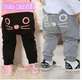 2017  baby brand pants baby boy Girl pants  spring lovely cat long trousers children pants baby long pant baby long trousers