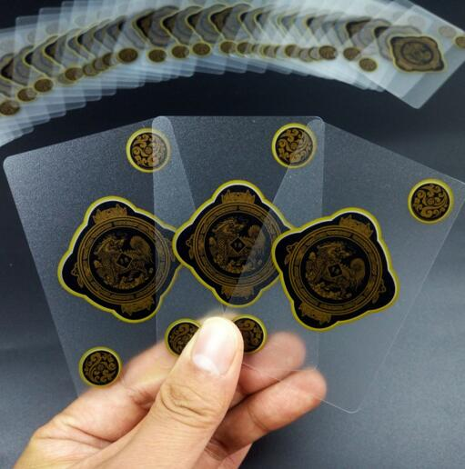 Wholesale 12pcs/lot PVC frosted crystal transparent water proof Poker playing card deck gift