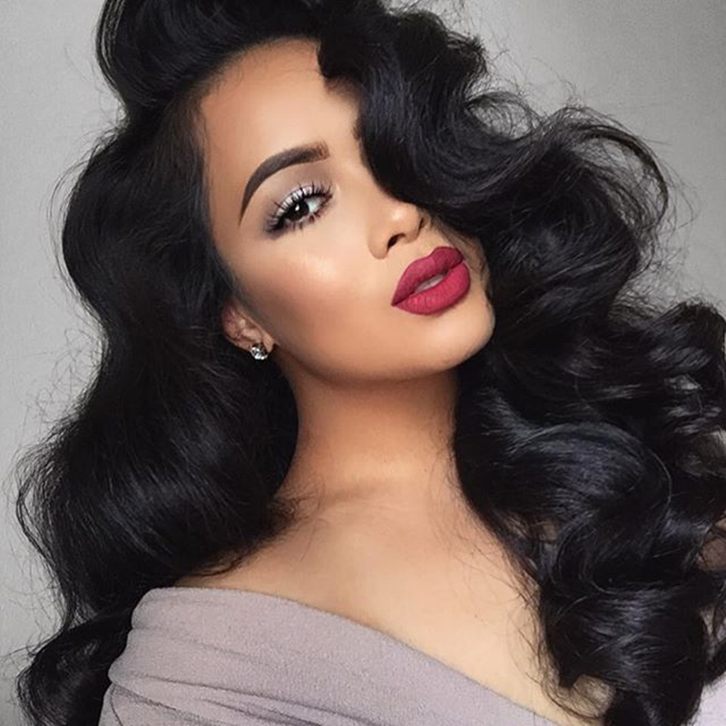 7A Full Lace Human Hair Wigs Peruvian Virgin Body Wave Lace Front Human Hair Wigs For Black Women 250% Density Front Lace Wigs