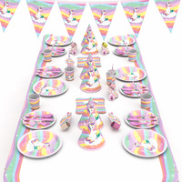 Party supplies Pink Unicorn atmosphere decoration suit Birthday Dress