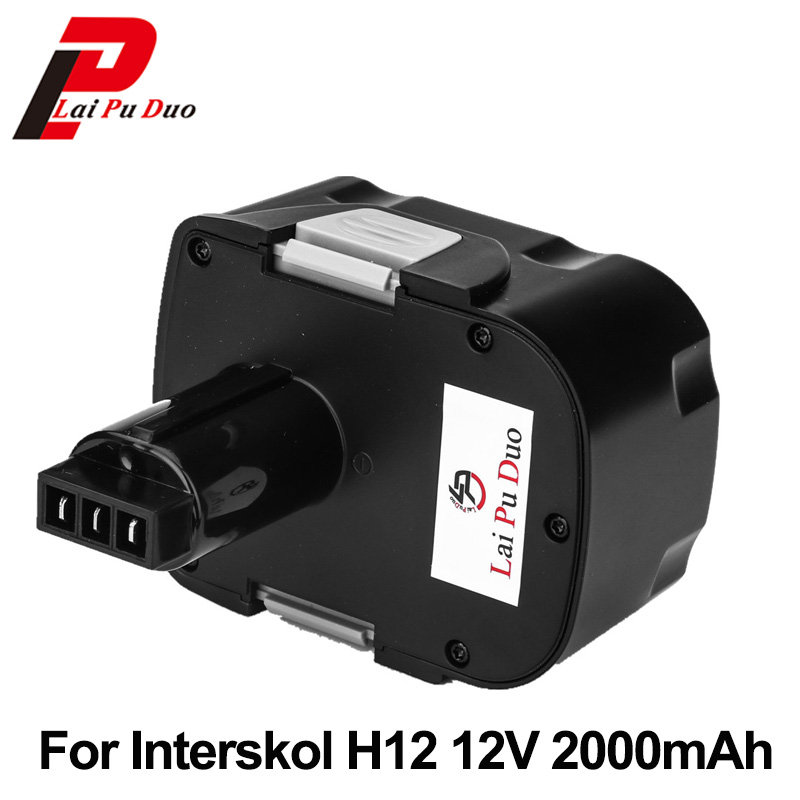 For Interskol H12 12V 2000mAh Ni-CD Power Tool Battery Cordless Drill Replacement Rechargeable Battery дрель шуруповерт aeg bs12g3li 202c кейс [451091]