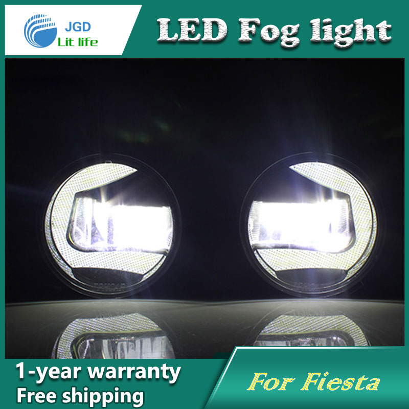 Super White LED Daytime Running Lights case For Ford Fiesta 2009-2013 Drl Light Bar Parking Car Fog Lights 12V DC Head Lamp new hot 12pcs cree chip leds daytime running lights led drl light bar parking car fog lights 12v dc head lamp for e70 x5 07 09