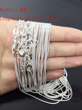 10PCS  factory wholesale 925 Sterling Silver Necklace Chain Jewelry women men fashion necklace for pendant 16,18,20,22,24 inch