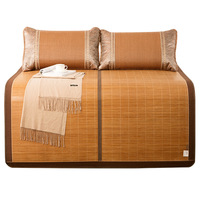 bamboo mat folding cool feeling bed mat for summer double faces rattan for bed multi size sleeping