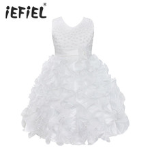 High Quality New Flower Girl Party Bridesmaid Pageant Princess Dress For Little Girls Gift Organza First Communion Dresses