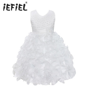 Image 1 - High Quality New Flower Girl Party Bridesmaid Pageant Princess Dress For Little Girls Gift Organza First Communion Dresses